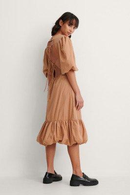 Trine Kjaer x NA-KD Trine Kjaer x NA-KD Back Detail Volume Sleeve Dress
