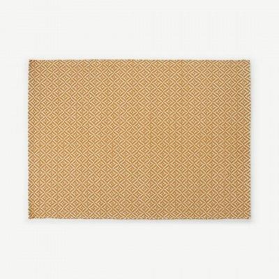 MADE.COM Mira geweven vloerkleed 120 x 170 cm, mosterdgeel