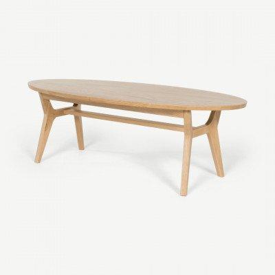 MADE.COM Jenson ovale salontafel, eiken