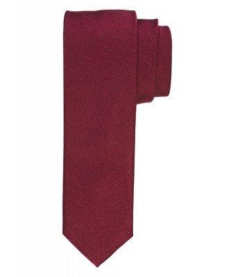 Profuomo Profuomo heren bordeaux smalle zijden stropdas