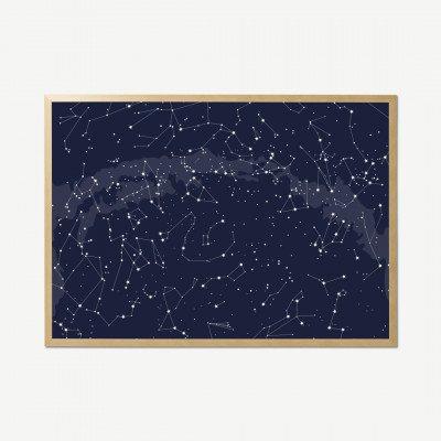 MADE.COM Luna Celestial, ingelijste print, 70 x 100 cm