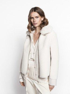 Beaumont Beaumont Fur-wool mix coat