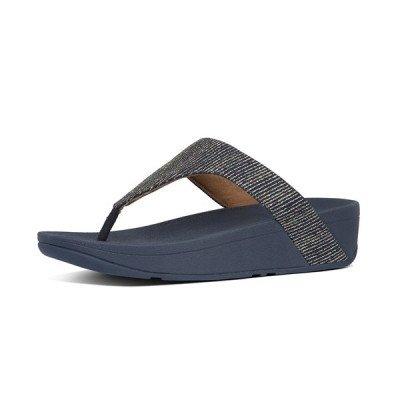 FitFlop FitFlop Lottie Glitter Stripe slippers blauw