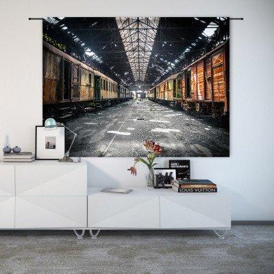 Urban Cotton Urban Cotton Wandkleed 'Depot', 145 x 190cm