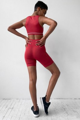 nu-in High Waist Compression Shorts / XS / Red