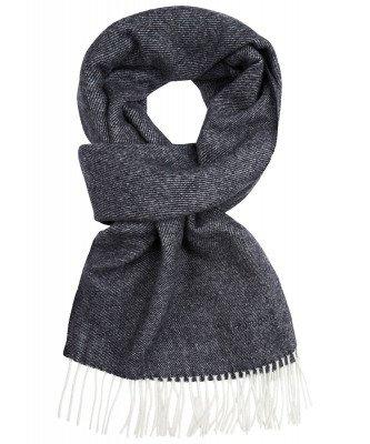 Profuomo Profuomo heren navy lamswollen sjaal