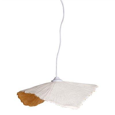 Firawonen.nl PTMD lanzo wit papier platte hanglamp s