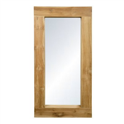 Firawonen.nl PTMD Old java natural wooden mirror rectangle thick frame