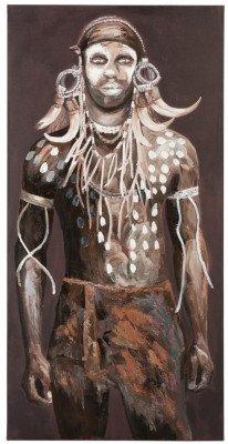 J-Line J-Line Schilderij 'Maria-Magdalena' Man, kleur Bruin / Wit