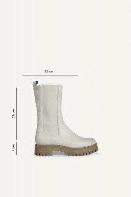 Shoecolate Shoecolate Platte laars Offwhite 8.20.08.285