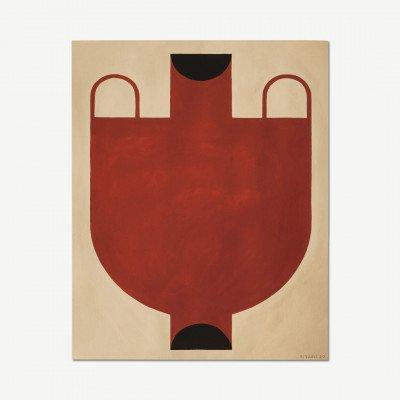 MADE.COM The Poster Club, Silhouette of a Vase 06, print door Studio Paradissi, 40 x 50 cm