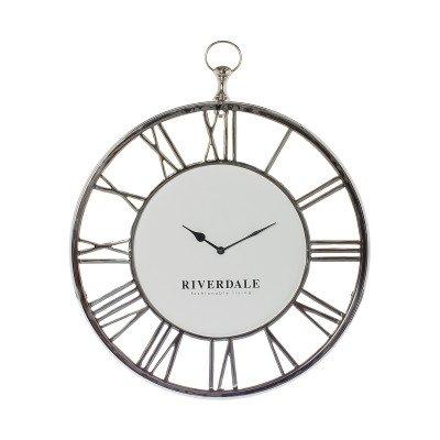 Riverdale NL Wandklok Luton silver 50cm