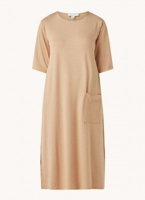 Aligne Aligne Cenni midi jurk van jersey met opgestikte zak
