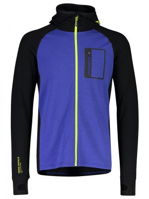 Mons Royale Mons Royale Merino Traverse Midi Fleece Jacket blauw