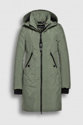 Creenstone Creenstone Technical coat with smocked details - Fern
