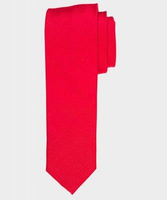 Michaelis Michaelis heren smalle zijden stropdas rood