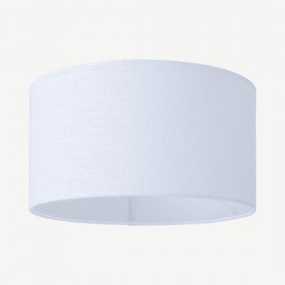 MADE.COM Porto lampenkap van linnen, 40 x 24cm, wit
