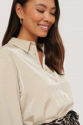 NA-KD Classic NA-KD Classic Shirt - Beige