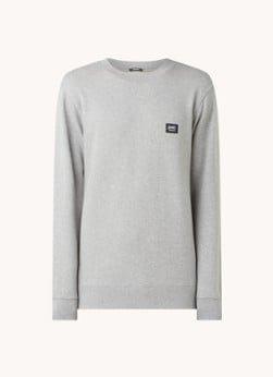 Denham Denham Applique sweater van biologisch katoen met logo