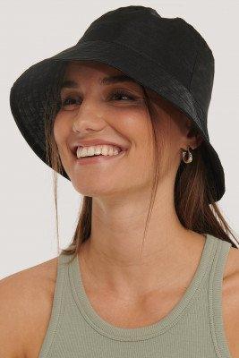 NA-KD Accessories Organza Bucket Hat - Black
