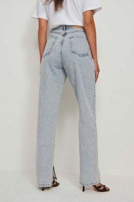 NA-KD Trend NA-KD Trend Organisch Jeans Met Zijsplit - Blue