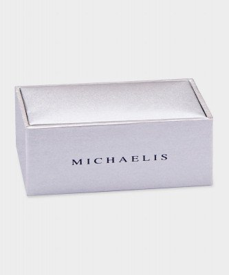 Michaelis Michaelis heren paperclip manchetknopen zilver