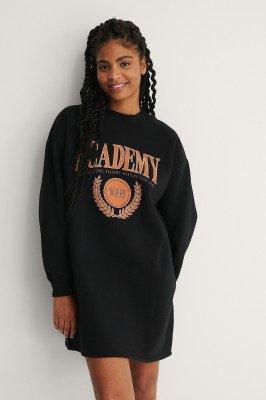 NA-KD NA-KD Organisch Sweaterjurk - Black
