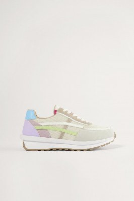 NA-KD Shoes NA-KD Shoes Pastel Detail Retro Sneakers - Multicolor