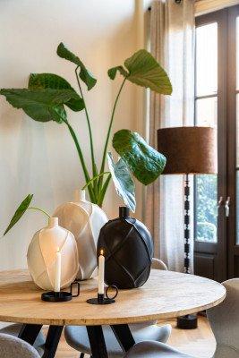 Light en Living Light & Living Vaas 'Ventano' 38cm, kleur Wit