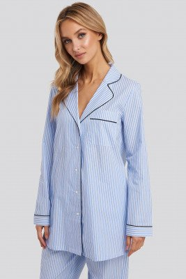 NA-KD Lingerie NA-KD Lingerie Dobby Cotton Night Shirt - Multicolor