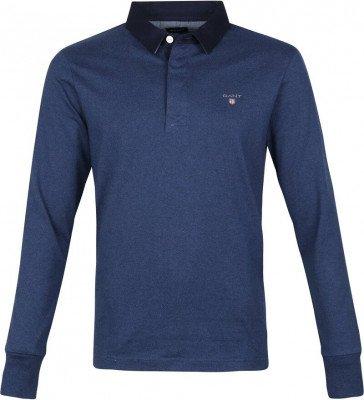 Gant Gant Rugger Poloshirt LS Marine Blauw
