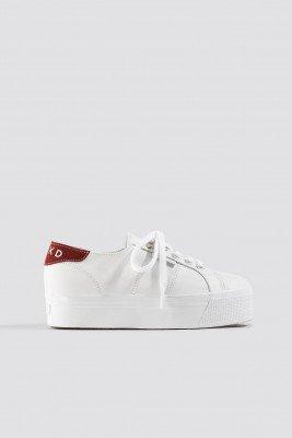 Superga x NA-KD Superga x NA-KD Leather Flatform Sneaker - White