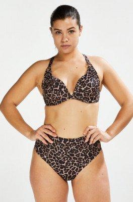Hunkemöller Hunkemöller Hoog Brazilian bikinibroekje Leopard Beige