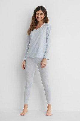 NA-KD Lingerie NA-KD Lingerie Loungewear Cotton Set - Blue