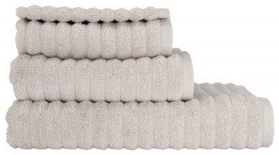 HEMA HEMA Handdoek Katoen Ribbel Lichtgrijs (lichtgrijs)