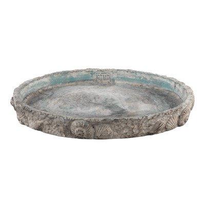 Firawonen.nl Fossil cement grey blue cement bowl s