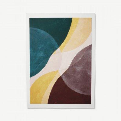 MADE.COM Yellow Flow door Berit Mogensen Lopez, print, 50 x 70 cm