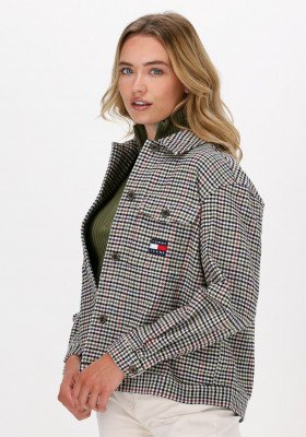 Tommy Jeans Beige Tommy Jeans Blouse Tjw Mini Check Overshirt