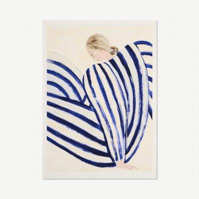MADE.COM The Poster Club Blue Stripe at Concorde,, print door Sofia Lind, 70 x 100 cm