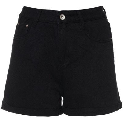 ComegetFashion MOM JEANS SHORTS BLACK