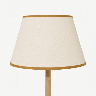 MADE.COM Larue tapstoelopende lampenkap, 35 cm, roomwit en donker okergeel
