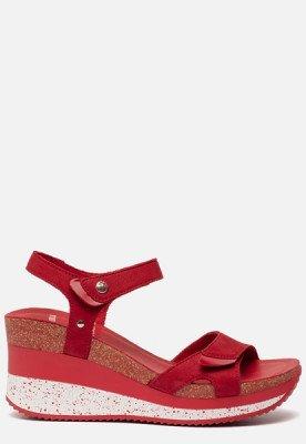 Panama Jack Panama Jack Nica Sport B1 sandalen met sleehak rood