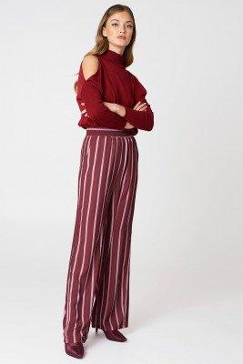 NA-KD NA-KD High Waist Wide Pants - Multicolor