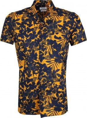 Dstrezzed Dstrezzed Overhemd Donkerblauw Geel