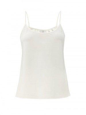 Matchesfashion Co - Crepe Camisole - Womens - Ivory