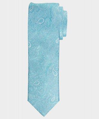 Michaelis Michaelis heren paisley zijden stropdas turquoise