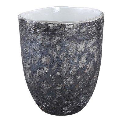 Firawonen.nl Monika grey dark glass vase round s
