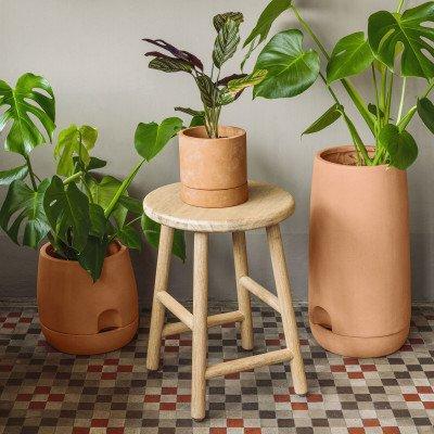 Kave Home Kave Home Pot 'Janaina' met zelfwatersysteem, set van 2 stuks