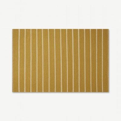 MADE.COM Hemsworth omkeerbaar wollen vloerkleed, groot 160 x 230 cm, lichtbruin en plamuurroze