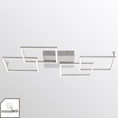 PAUL NEUHAUS LED plafondlamp Inigo m. vier lampjes - langwerpig
